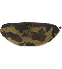 A Bathing Ape Camo Waist Bag Green