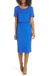 Charles Henry T Shirt Dress Cobalt