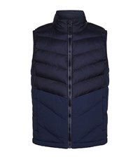 Boss Orange Quilted Gilet Navy