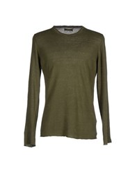 Alpha Studio Knitwear Jumpers Men Military Green