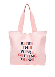Ban.Do Canvas Slogan Tote Were Getting Tacos