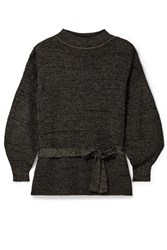 Apiece Apart Arkestra Belted Knitted Sweater Black