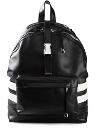 Balmain Striped Backpack