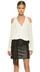 Tamara Mellon Shoulderless Blouse White
