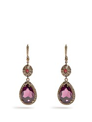 Alexander Mcqueen Crystal Embellished Drop Earrings Gold
