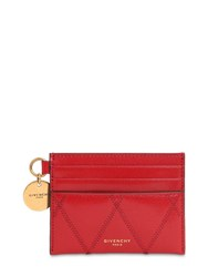 Givenchy Quilted Leather Card Holder Gold
