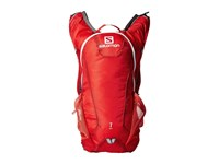Salomon Agile 7 Set Bright Red White Backpack Bags