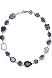 Kimberly Mcdonald 18 Karat White Gold Multi Stone Necklace One Size