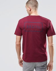 Brixton T Shirt With Back Logo Burgundy Red