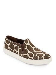 Cole Haan Jennica Metallic Giraffe Print Canvas Slip On Sneakers