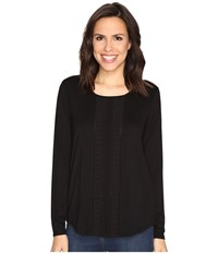 Nydj Haley Pleated Top Black Women's Clothing