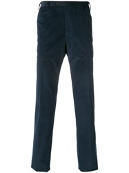 Corneliani Corduroy Trousers Blue