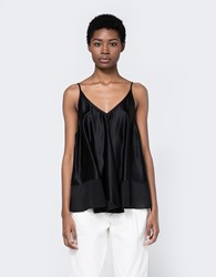 Alexander Wang Silk Trapeze Cami In Black