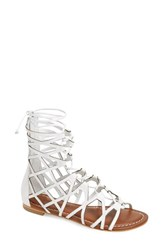 Women's Bernardo Footwear 'Willow' Gladiator Sandal White Leather