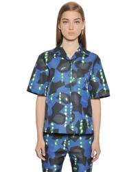Jil Sander Printed Cotton Blend Ottoman Shirt