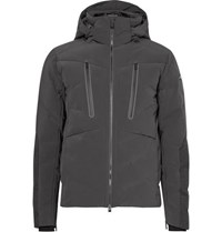 Kjus Linard Wool Panelled Quilted Shell Down Ski Jacket Charcoal