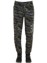 Emporio Armani Ventus 7 Cotton Blend Sweatpants Army Camo