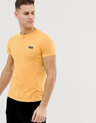 Superdry Logo Marl T Shirt In Yellow