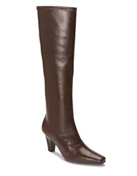 Aerosoles Riskypiznes Faux Leather Boots Brown
