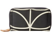 Orla Kiely Big Zip Wallet Liquorice Wallet Handbags Brown