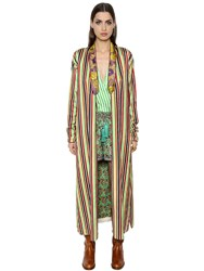 Etro Anise Cotton And Silk Blend Robe Jacket