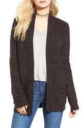 Cotton Emporium Women's Marled Knit Open Cardigan
