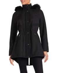 Catherine Malandrino Faux Fur Trimmed Anorak Coat