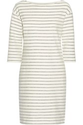 By Malene Birger Striped Cotton Terry Dress Cream