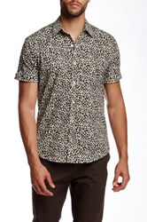 Parke And Ronen Leopard Print Short Sleeve Shirt Multi