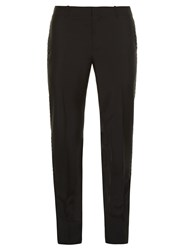 Alexander Mcqueen Ribbon Stripe Tuxedo Trousers Black