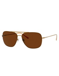 Jack Spade Griffin Rounded Square Sunglasses Gold
