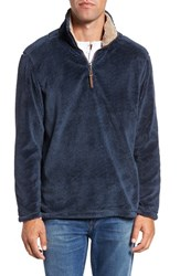 True Grit Men's Pebble Pile Quarter Zip Pullover Vintage Denim
