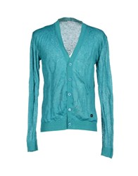 Versace Collection Knitwear Cardigans Men Turquoise