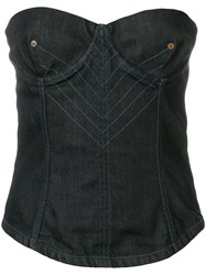 Jean Paul Gaultier Vintage Denim Bustier Blue