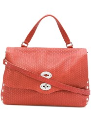 Zanellato Wave Pattern Tote Bag Red
