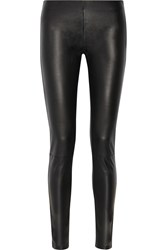 Maison Martin Margiela Leather And Stretch Jersey Leggings Gray