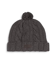 Original Penguin Albert Pom Pom Cable Knit Beanie Castlerock