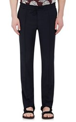 Valentino Men's Side Striped Drawstring Trousers Navy