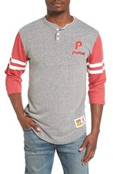 Mitchell And Ness Men's Home Stretch Philadelphia Phillies Henley
