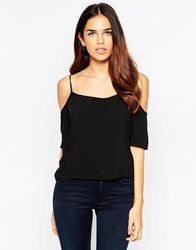 Ax Paris Cold Shoulder Top Black