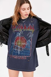 Urban Outfitters Def Leppard Oversized Tee Black