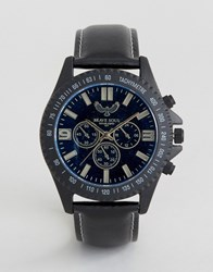 Brave Soul Black Watch With Imitation Inner Dials Black