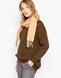 Johnstons Lambswool Scarf Camel