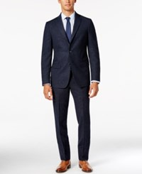 Dkny Men's Slim Fit Blue Donegal Suit