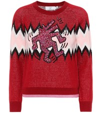 Coach Wool And Cashmere Sweater Red