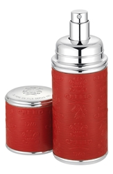Creed Red With Silver Trim Leather Atomizer