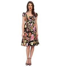 Stop Staring Haylie Swing Dress Spring Black Floral Women's Dress