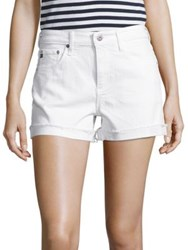 Ag Jeans Hailey Slouchy Cuffed Denim Shorts White
