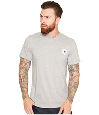 Converse Core Left Chest Core Patch Short Sleeve Crew Tee Vintage Grey Heather Men's T Shirt Gray