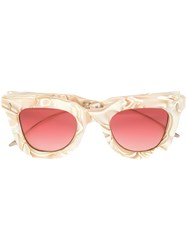 Jacques Marie Mage Fascinationst Sunglasses Acetate Metal Nude Neutrals